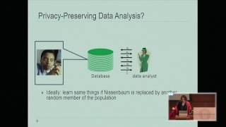 Differential Privacy Symposium: Four Facets of Differential Privacy Saturday, November 12, 2016...
