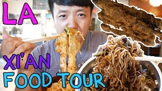 Video SPICY Noodles & Chinese BURGERS in Los Angeles: Xi'an Street Food Tour MP3, 3GP, MP4, WEBM, AVI, FLV Juni 2019