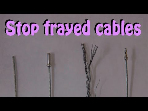 How to solder bicycle brake and gear cable ends