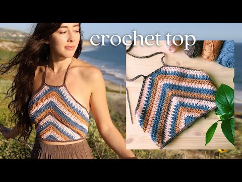 Crochet Summer Top Tutorial - Boho Crop Top
