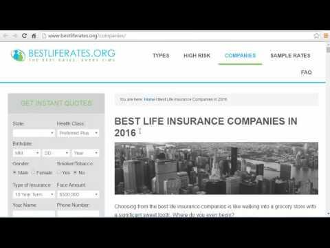 top life insurance companies 2017 video
