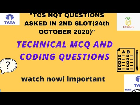 Tcs nqt 2021 technical and coding questions asked on 24th october   TCS questions 2nd slot