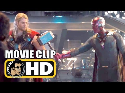 """AVENGERS: AGE OF ULTRON (2015) """"Vision Lifts Thor's Hammer"""" Movie Clip 