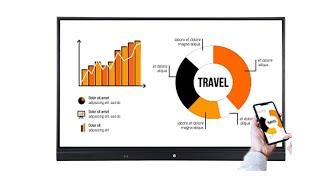 Anti Glare 65 75 86 inch LCD Display Monitor Interactive Flat Panel Smart board youtube video
