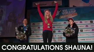 Shauna Coxsey is the 2017 Boulder World Cup Champion by Five Ten