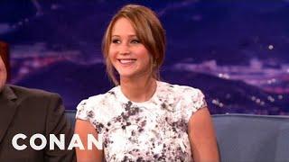 "Video Jennifer Lawrence's Big Break Was As A Mascot On ""Monk"" - CONAN on TBS MP3, 3GP, MP4, WEBM, AVI, FLV Juni 2018"