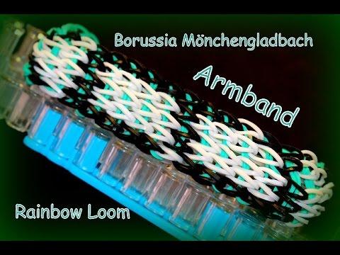 Rainbow Loom Armband Borussia Mönchengladbach, 1. Bundesliga Fussball, Loom Bands Bandz