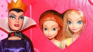 Frozen Disney Poison Apple Snow White Evil Queen Kidnap Lalaloopsy Dollhouse Princess Toys Parody