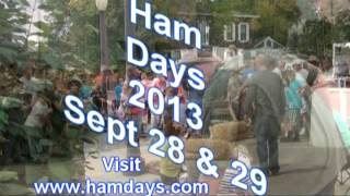 Ham Days 2013 is September 28th and 29th