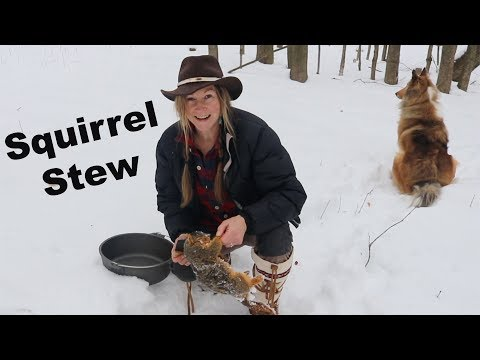 How to use an Ulu knife  ~  Squirrel Stew on the Woodstove