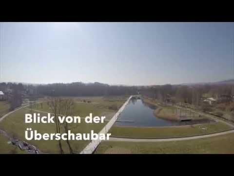 Rundblick von der Überschaubar auf den Auenpark / Marktredwitz
