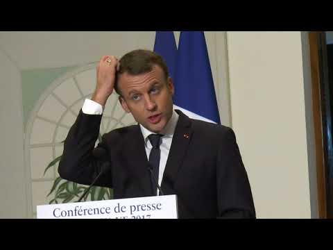 FRANCE EN COTE D'IVOIRE : Conférence de presse du Président Emmanuel Macron_Résidence de France le 29 nov à 19H00
