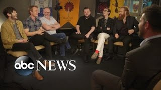 Actors Kristofer Hivju, Liam Cunningham, John Bradley, Lena Headey and others discuss the controversy and successful show's plotlines.