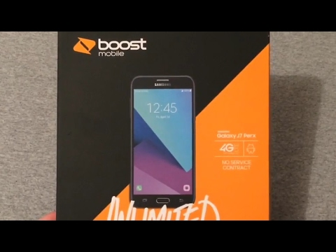 Samsung Galaxy J7 Perx Boost Mobile Unboxing & Quick Look