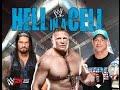 WWE Hell in a Cell 2015 : John Cena vs Brock Lesnar vs Roman Reigns [ WWE 2K15 Gameplay]