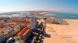 Figueira Da Foz Portugal  city pictures gallery : Figueira da Foz and Buarcos aerial view