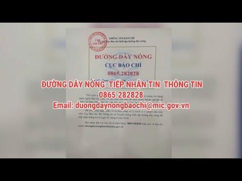 Công bố đường dây nóng Cục Báo chí