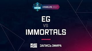 EG vs Immortals, ESL One Hamburg 2017, game 1 [Lum1Sit, Inmate]