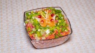 Редька с морковью и яблоком рецепт и украшение салата