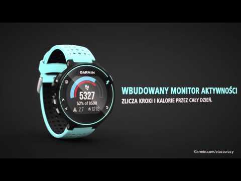 Zegarek sportowy z GPS GARMIN Forerunner 235 Czarno-szary