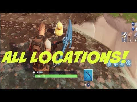 ALL RUBBER DUCKIE LOCATIONS IN FORTNITE
