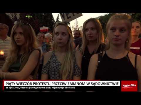 Wideo1: Protest przed Sądem Rejonowym w Lesznie