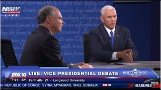 Farmville (VA) United States  city pictures gallery : FNN: Vice Presidential Debate - Farmville, Virginia - Tim Kaine - Mike Pence