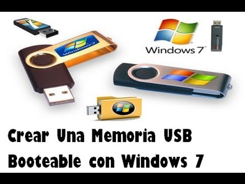 crear una memoria usb booteable con windows 7 como crear una usb