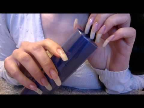 ASMR: dani 89 tapping with her long natural nails (video 62)