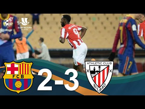 RESUMEN | FC Barcelona 2 - 3 Athletic Club | Final de la Supercopa de España 2021