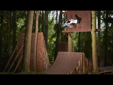 bmx big air session nella foresta!