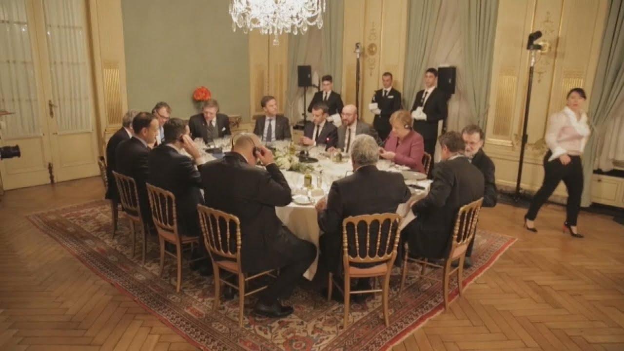 Ευρωπαίοι ηγέτες σε δείπνο,  την παραμονή της συνόδου κορυφής