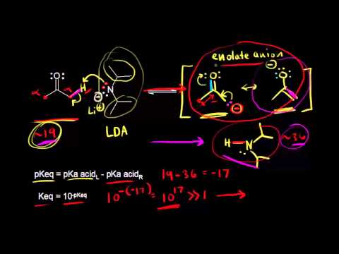 Enolate Formation From Ketones Video Khan Academy