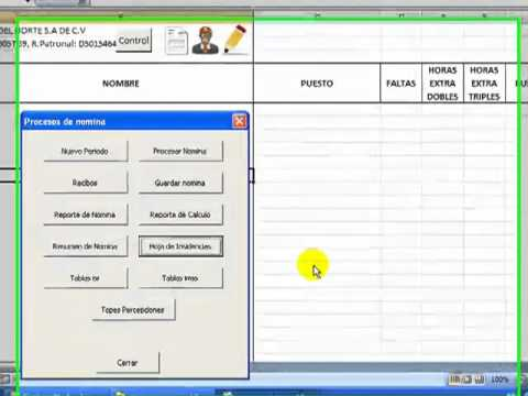 Nomina en excel videos relacionados con picture to pin on for Nomina en excel xls