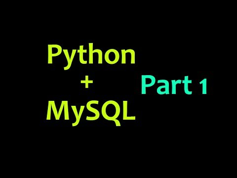 MySQL Database with Python Tutorial Part 1 – Intro