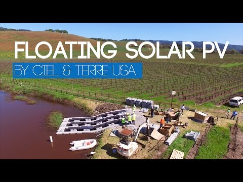 Ciel & Terre USA: First Hydrelio Floating PV system in California
