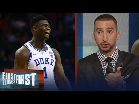 Nick Wright discusses if Zion can lead Duke to the NCAA Championship   CBB   FIRST THINGS FIRST