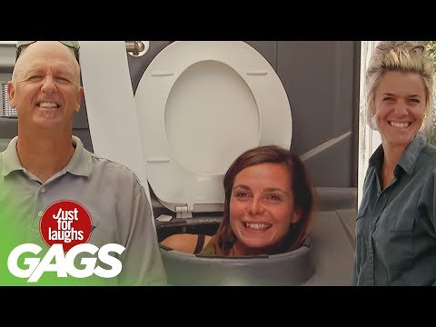laughs - Don't miss another Gag - Subscribe!: http://goo.gl/wJxjG Be aware the next time you go to a public toilet, our pranksters are probably hiding somewhere! Here...