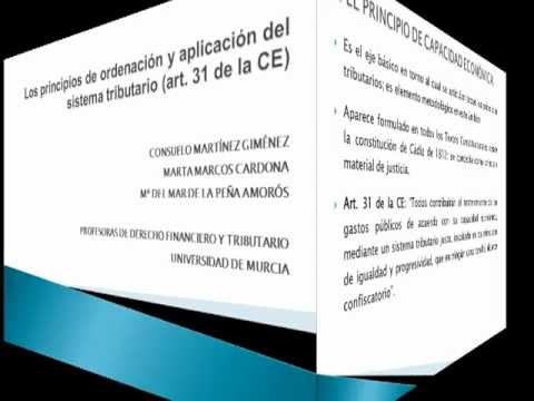 Principios de ordenación y aplicación del sistema tributario