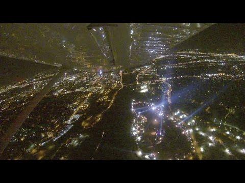 Scenic Night Flight   ACL Music Festival   Cessna 172