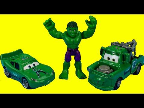 Disney Pixar Cars Hulk Mater & Hulk Car McQueen save The Incredible Hulk from Mr. Freeze