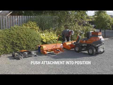 Садовый райдер бензиновый HUSQVARNA R 420TSX AWD - видео №2