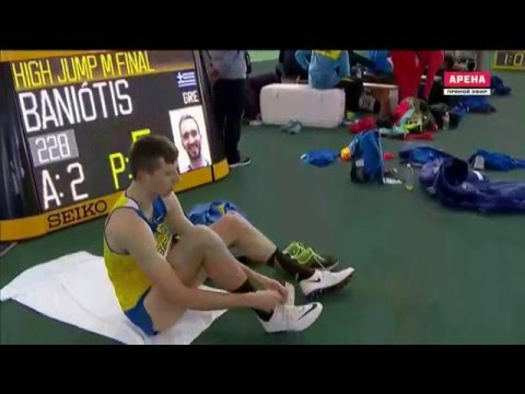 Andriy Protsenko 2.29 ( World indoor championship. Men's high jump final. Portland 19.03.2016 )