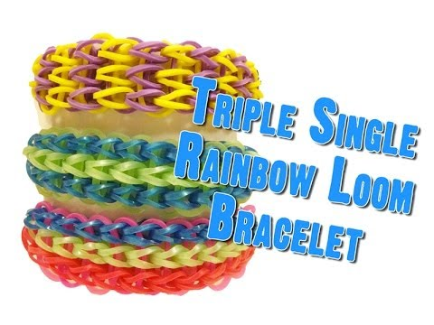Triple Single – How to make Rubber Band Bracelets & Loom Bands