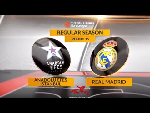 EuroLeague Highlights RS Round 15: Anadolu Efes Istanbul 78-80 Real Madrid