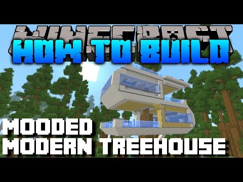 Minecraft : How To Build : MODERN TREEHOUSE