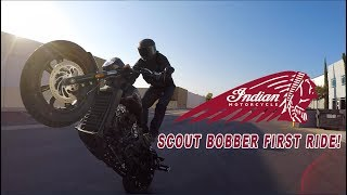 10. INDIAN SCOUT BOBBER - MY FIRST RIDE