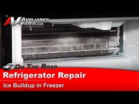 Maytag Refrigerator Repair – Ice Build up in Freezer – MF12665XEB0