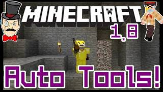 Minecraft 1.8 AUTO TOOL SWITCH ! Quick Change Pickaxe, Sword&Auto Mine - Control Pack Mod!