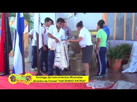 Entrega de instrumentos musicales a escuelas del Municipio de Ocotal